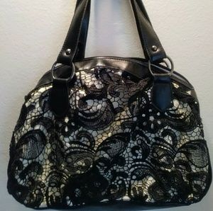 Black Lace Shoulder Bag Purse